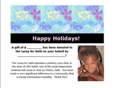HOLIDAY GIFT IDEA! The satisfaction of a deed well done