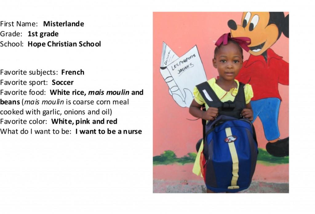 Misterlande with school bag