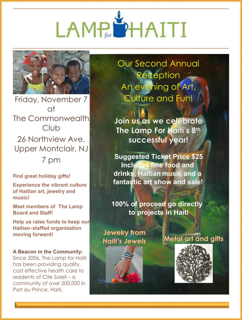 Art sale flyer -- Nov 7 at Commonwealth Club, Montclair