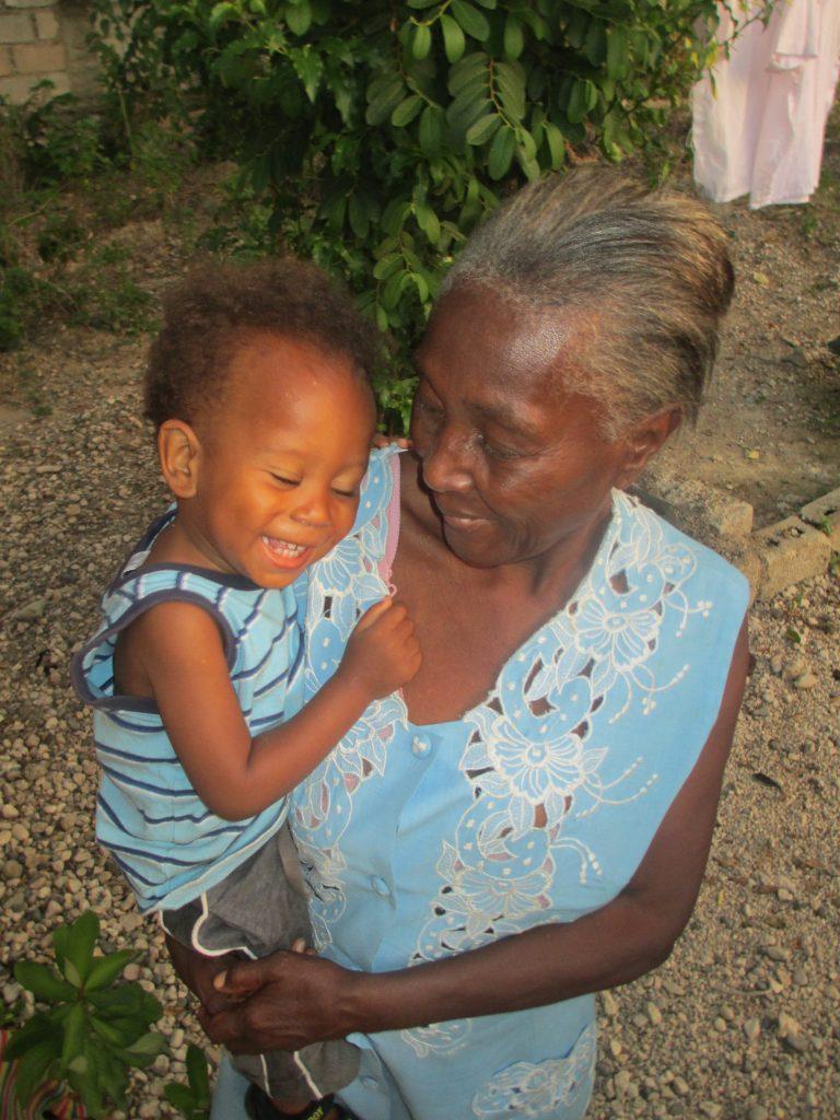 toddler and grandma
