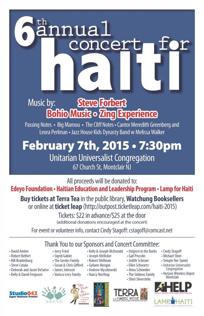 Concert for Haiti - 2015 - poster