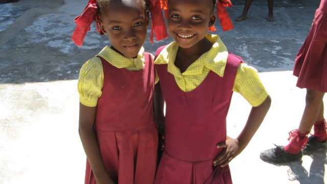 Sponsored girls at Enfant Jesus
