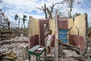 Ruined home in Cayes