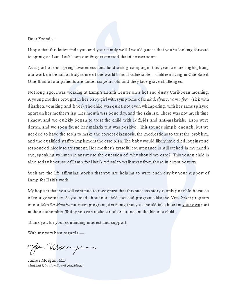 Jim's Spring letter