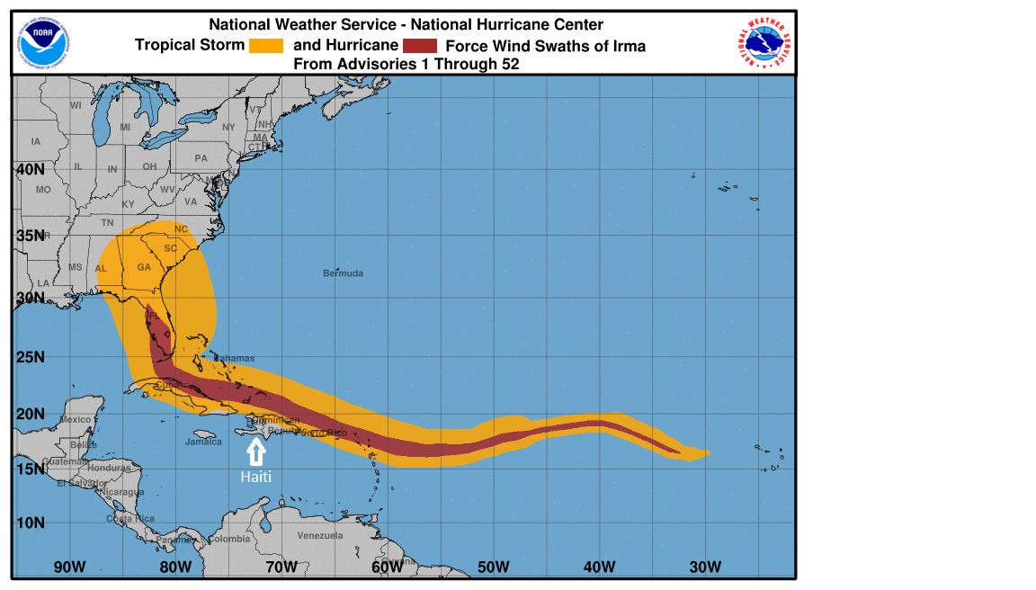 Hurricane Irma spares Haiti