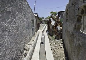 Completed drainage canal